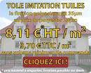 VPV-Direct, la tôle imitation tuiles à 8,11€ HT/m² (soit 9,70€ TTC ...