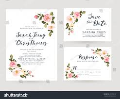Invitation Card Of Wedding Wedding Invitation Card Suite Tiny Romantic Stock Vector 421659010
