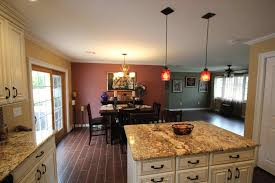 suspended drop down lighting kitchens ceiling with lights and flat
