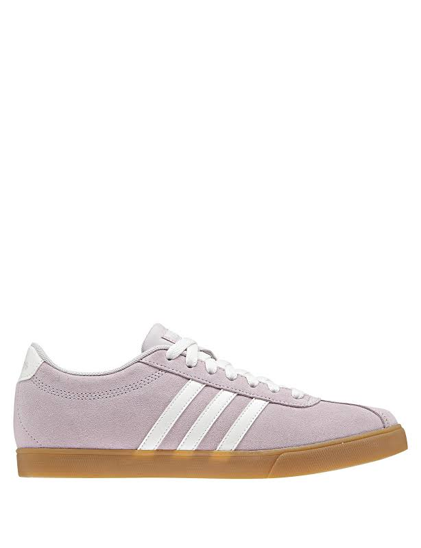 Adidas Courtset Suede Tennis Shoes Purple 8.5 Medium (B,M)
