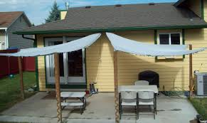 Outdoor Patio With Roof by Running With Scissors Patio Shade Sails