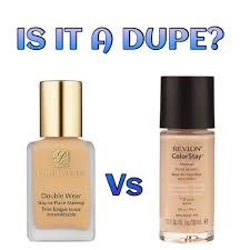 is it a dupe estee lauder double wear stay in place makeup vs revlon colorstay makeup