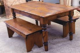 awesome farmhouse table and bench youtube