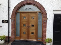 contemporary front door and timber frame solihull traditional