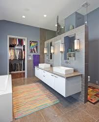 toilet bathroom contemporary with white trim acrylic bath mats