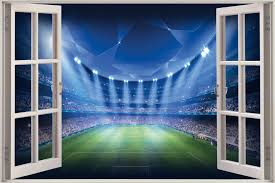 28 football stadium wall mural mix and chic giveaway murals football stadium wall mural 3d window view fantasy football stadium wall sticker mural