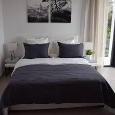 chemin de lit en lin linge de lit en lin linge de lit percale maison d u0027été