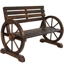 Childrens Garden Chair Bcp Patio Garden Wooden Wagon Wheel Bench Rustic Wood Design