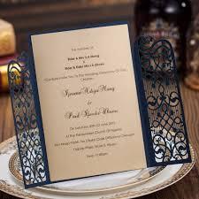 aliexpress com buy dark blue laser cut wedding invitations kits