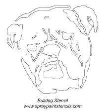 english bulldog pumpkin stencil stencils pinterest