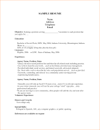Sample Of Work Resume by 12 Good Cv Examples For First Job Basic Job Appication Letter