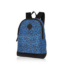 Blue Leopard Print by River Island Blue Leopard Print Backpack In Blue Lyst