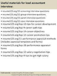 Accounting Resume Examples by Top 8 Lead Accountant Resume Samples