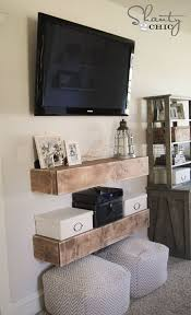 Free Woodworking Plans Shelves by Diy Media Shelves Media Shelf Free Woodworking Plans And
