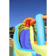 halloween bounce house sportspower double slide and bounce inflatable water slide