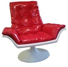 Swivel Chair Base Mid Century Mod Space Age Tulip Base Swivel Chair Chairish