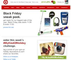 pre black friday sale at target 10 black friday and cyber monday email marketing tips