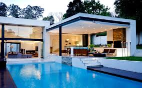 Tiny Pool House Plans White Wall Modern House Cad With Small Pool And Grey Deck Pool Can