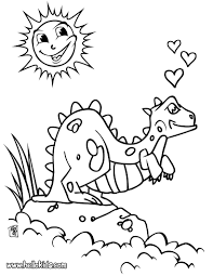 dinosaur in love coloring pages hellokids com