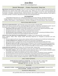 Human Resources Resume Samples by View Human Resources Manager Resume Example