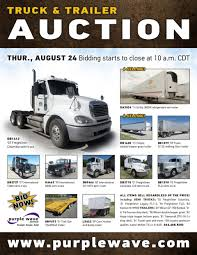 truck and trailer auction in gilman city missouri by purple wave