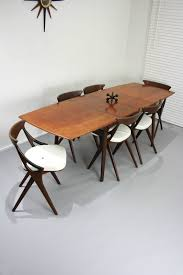 Teak Dining Room Table And Chairs by Mid Century Parker Set Of 6 Spadeback Teak Dining Chairs Vintage