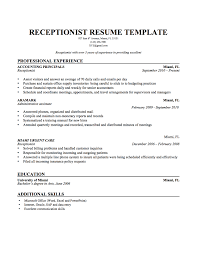 receptionist objective resume cover letters for a resume resume