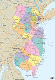 Zip Code Map Portland Or by Map Of State Of New Jersey With Outline Of The State Cities