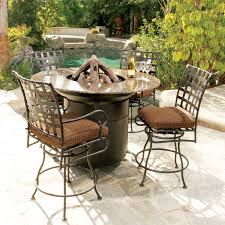 Patio Furniture Counter Height Table Sets - bar height fire pit table set