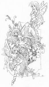 exotic fairy coloring pages fairies sketch by real warner