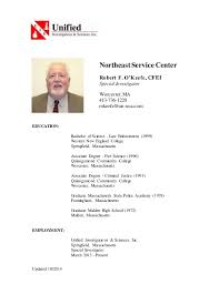 Updated         NortheastService Center Robert F  O     Keefe  CFEI Special Investigator     SlideShare