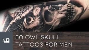 50 owl skull tattoos for men youtube