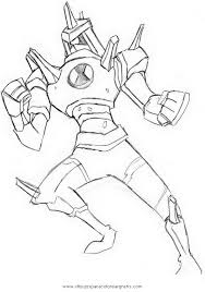 ben 10 chromastone coloring pages