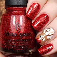 rudolph inspired christmas nails christmas and winter ideas