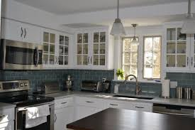 Backsplash Kitchen Photos Stylish Glass Subway Tile Kitchen Backsplash All Home Decorations