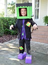 kid u0027s halloween costume frankenstein craft items cardboard