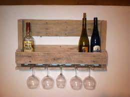 Wine Bar Decorating Ideas Home by Furniture Chic Wall Mounted Reclaimed Wood Wine Glass Rack With