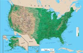 Arizona Us Map by Geography Blog Physical Map Of The United States Of America