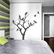 halloween wall art crow tree wall decal nature wall decal spooky wall art