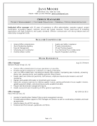 Office Manager Job Description For Resume  resume template office     happytom co