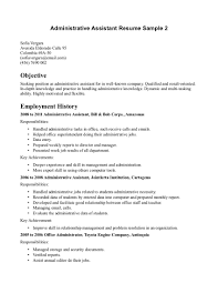 Resume Administrative Assistant  administrative assistant resume     happytom co