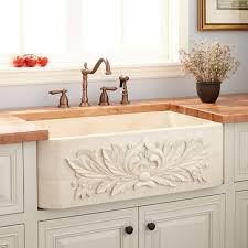 Ivy Polished Marble Farmhouse Sink Cream Egyptian Kitchen - Marble kitchen sinks
