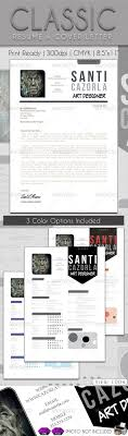 Classicl resume  amp  cover letter to impress your boss  Fully editable  clean  elegant  Three variations color included  Indd and idml file included  FONT USED