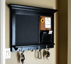 Kitchen Wall Organization Ideas Heirloom Quality Wood Framed Bulletin Board Chalkboard Keyhook