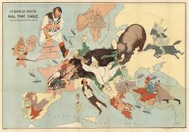Map Of Russia And Europe by Kill That Eagle Caricature Map Of European Hostilities By J H