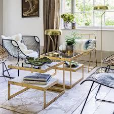 estere gold marble coffee table graham u0026 green homedecor