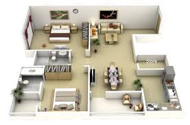 Two  Bedroom ApartmentHouse Plans Bedroom Apartment - Apartment house plans designs