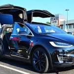 Watch Tesla's Model X Launch Out of the Way and Narrowly Avoid a Serious Collision