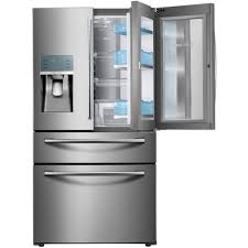 Home Depot Interior Double Doors Samsung 22 4 Cu Ft Food Showcase 4 Door French Door Refrigerator