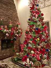 my red green gold black and white 12ft 14ft christmas tree